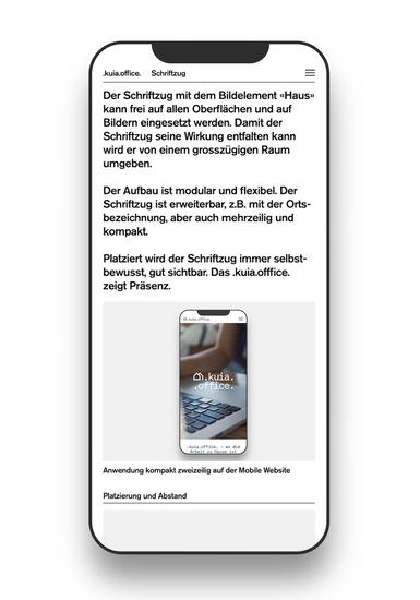 HI Brand Portal Schrifzug Screen Mobile III