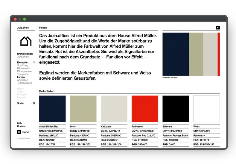 HI Brand Portal Farben Screen Normal