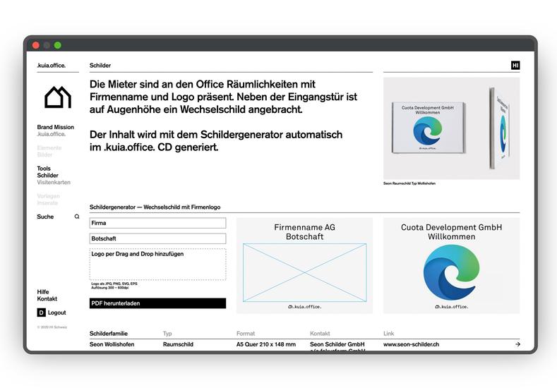 HI Brand Portal Schilder Screen Normal